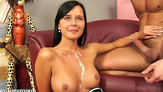 Susan G is a shy brunette in need of an erected penis