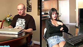 Ample breasted chick Rihannon Sky hooks up with one kinky dude
