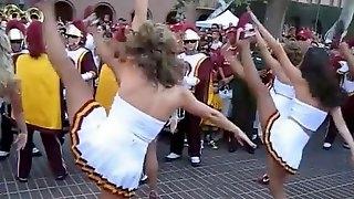 Cheerleaders dance