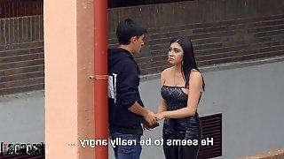 Mexian slut Giselle Monates cheats her boyfriend with a stranger