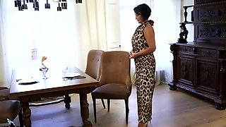 Hyper sexual old woman Olivia Westervelt is waiting for her young lover