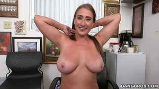 Quickie screwing on the office feed with bosomy girl Skyler Luv