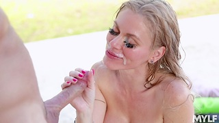 Outdoors fucking by the conjoin approximately fake boobs MILF Casca Akashova