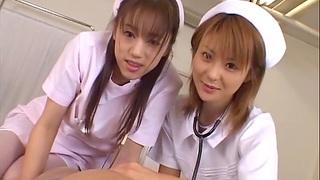 Asian nurses team yon to pleasure a lucky patient - Naho Ozawa