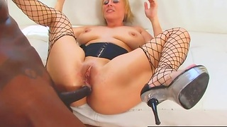 Cock hungry sluts enjoy their tight assholes getting fucked deep and good with big black dicks