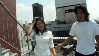Passionate outdoors quickie with attractive girlfriend Hiiragi