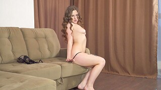 Oversexed solo chick Amanda June moans while pleasuring will not hear of pussy
