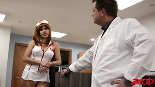 Incredible group sex party with naughty nurses Astrid and Jennifer