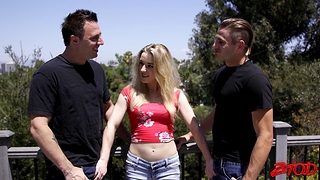 Passionate MMF threesome with compacted confidential hottie Katie Kennedy
