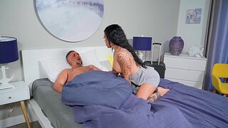 closeup motion picture of amazing shacking up in the morning with Lacey Jayne