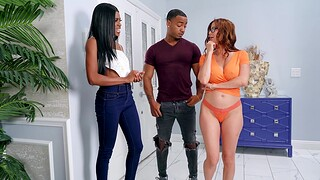Interracial FFM triune with horny Alexis Fawx with an increment of Nicole Kitt