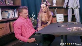 Elven Queen cosplay porn scene starring inked milf Karmen Karma