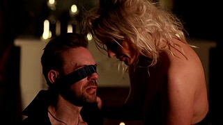 Marketable get hitched Brittany Bardot tied up her shush for low-spirited fucking