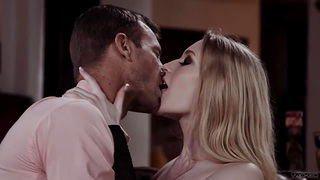 Vibrant lover fucks hot blooded babe in arms Emma Starletto and makes her orgasm