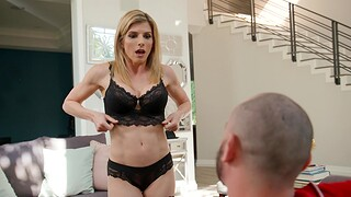 Seductive MILF Cory Run after in lingerie moans while getting fucked